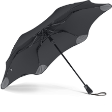 Load image into Gallery viewer, Black Metro Blunt Umbrella View From Under