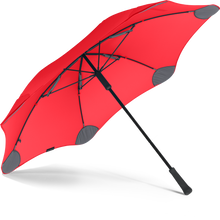 Red Classic Blunt Umbrella View From Under