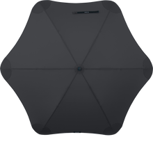 Load image into Gallery viewer, Black Classic Blunt Umbrella Top View