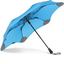 Load image into Gallery viewer, Blue Metro Blunt Umbrella View From Under