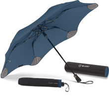 Load image into Gallery viewer, Navy Blue Metro Blunt Umbrella Hero