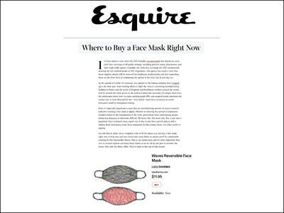 Featured in Esquire - Reversible Face Mask