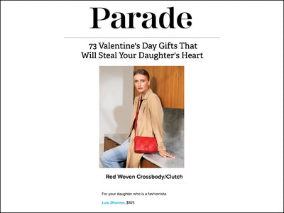 Featured in Parade - Woven Crossbody/Clutch