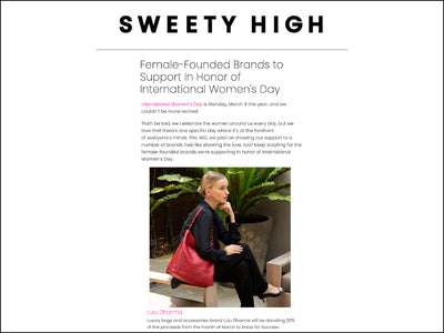 Featured in Sweety High - Napa Vegan Leather Handbag