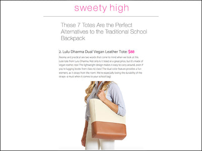 Featured in Sweety High - Dual Vegan Leather Tote