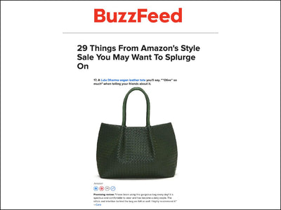 Featured on Buzzfeed - Napa Vegan Leather Tote