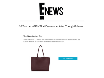 Featured in E News - Vegan Leather Tote