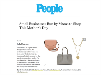 Featured in People - Crossbody Bag, Napa Tote, and Moon & Stars Layered Necklaces