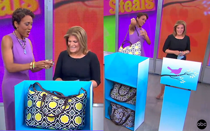 Good Morning America features Lulu Dharma Bag on Steals and Deals