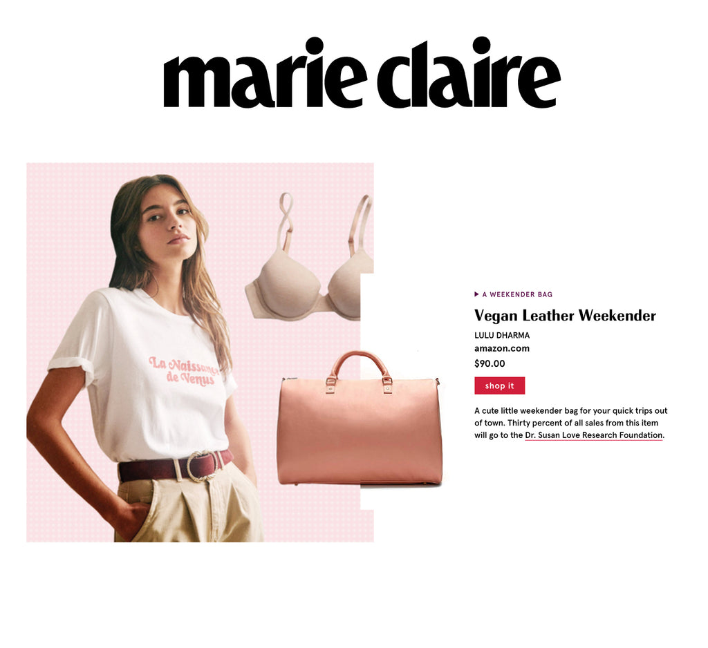 Marie Claire Weekender Bag Feature