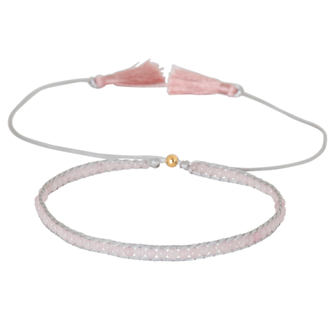 ROSE QUARTZ GEMSTONE CHOKER