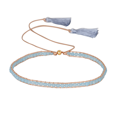 AQUAMARINE GEMSTONE CHOKER