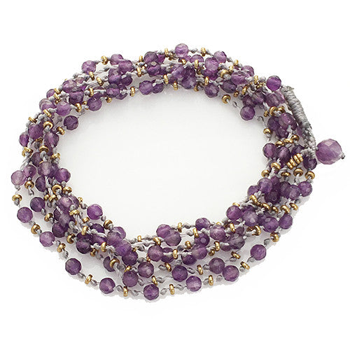 AMETHYST KNOTTED GEMSTONE WRAP