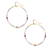 Amethyst Andalusia Hoop Earrings