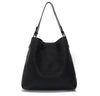 Black Clara Laser Cut Shoulder Bag