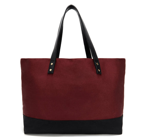 Burgundy & Black Midnight Garden Dual Tote