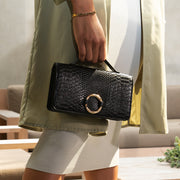 Black Bamboo Clutch