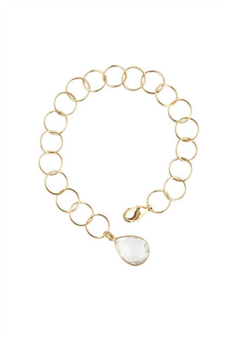 Clear Quartz Circle Gemstone Bracelet