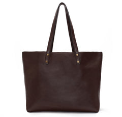 Dark Brown Vegan Leather Tote
