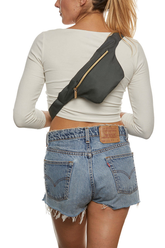Dark Grey Hip Pack with RFID Protection