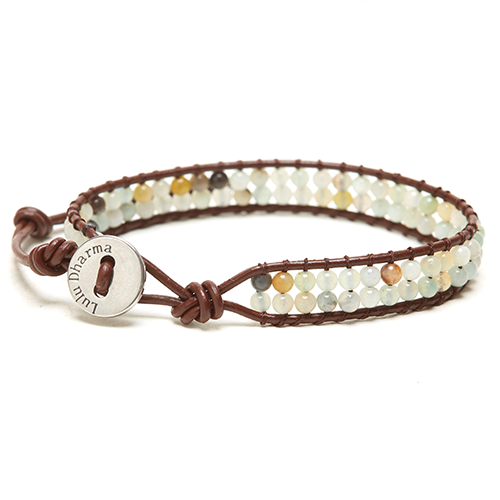 AMAZONITE MINI-BEADED 1 WRAP BRACELET