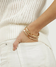 Blush Honeycomb Stretch Bracelet Trio
