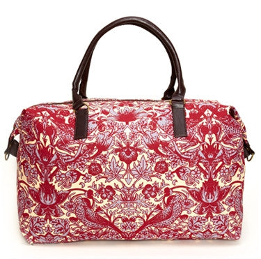 Pomegranate Periwinkle Classic Floral Overnight Bag