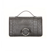 Gray Bamboo Clutch
