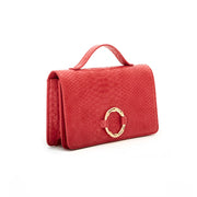 Red Bamboo Clutch