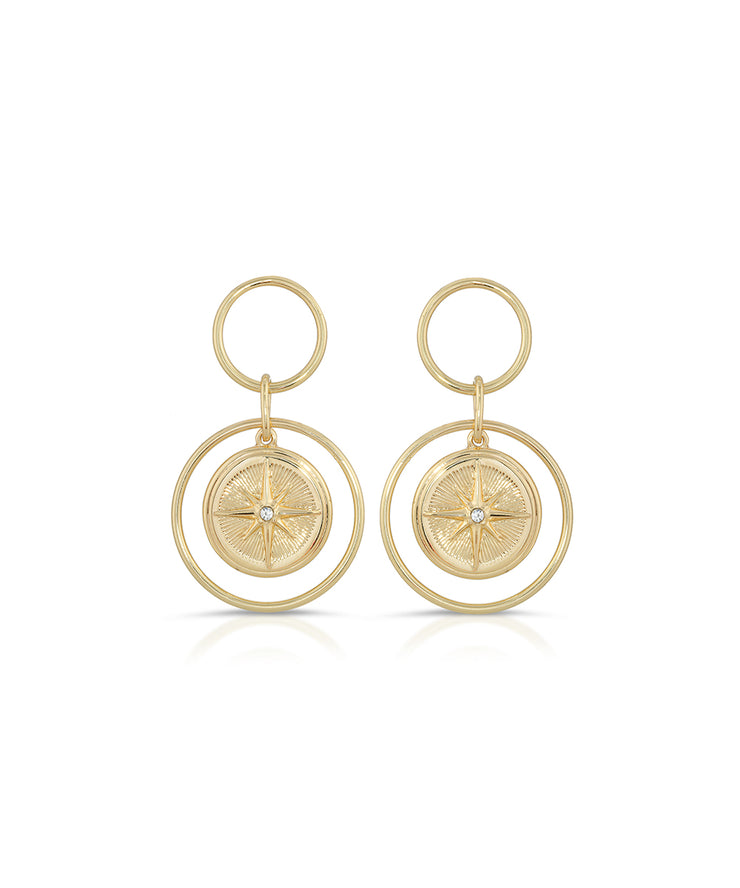 North Star Drop Earrings