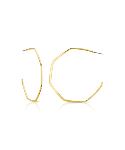 Gold Large Geo Hoops