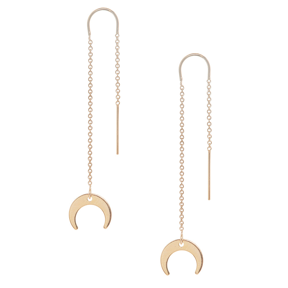 Goddess Moon Charm Earring in Gold