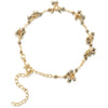 Pyrite Gemstone Flower Bracelet