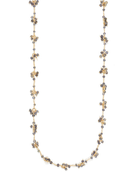 Iolite Gemstone Flower Necklace