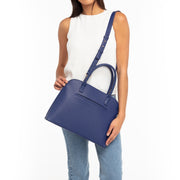 Blue Saffiano Laptop Handbag