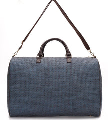 Blue and Black Jacquard Weekender