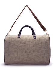 Brown and Beige Jacquard Weekender