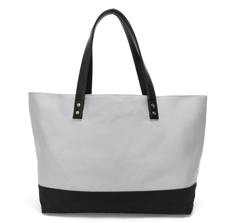 Gray & Black Midnight Garden Dual Tote