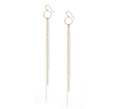 Pearl and Chain Earrings