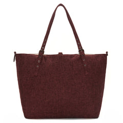 Winter Berry Linen Luxe Tote