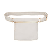 Cream Square Belt Bag