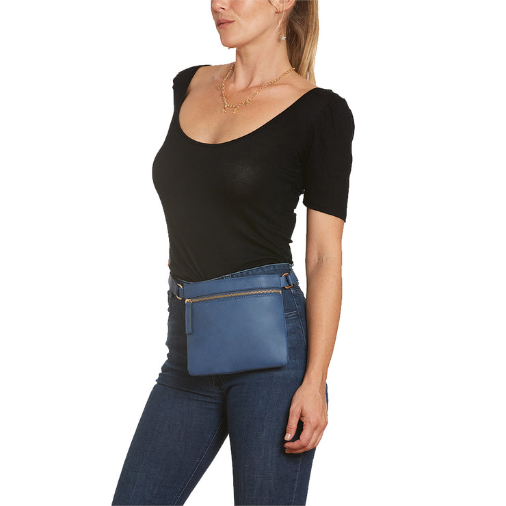 Indigo Square Belt Bag