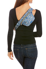 Cerulean/Arctic Snake Print Hip Pack with RFID Protection