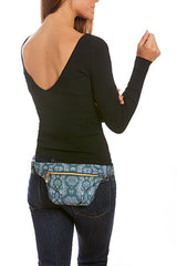 Moss/Sky Snake Print Hip Pack with RFID Protection