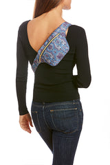 Violet/Sea Snake Print Hip Pack with RFID Protection