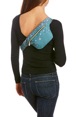 Pink Stars on Cactus Hip Pack with RFID Protection