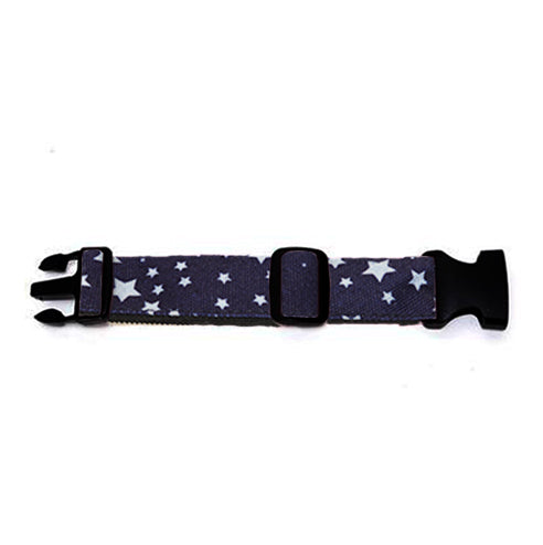 Silver Stars on Dark Indigo Hip Pack Extender Strap