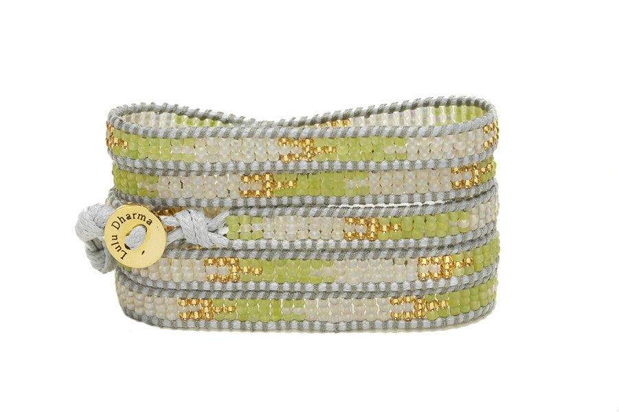 Salt & Lime Seed Bead Wrap Bracelets