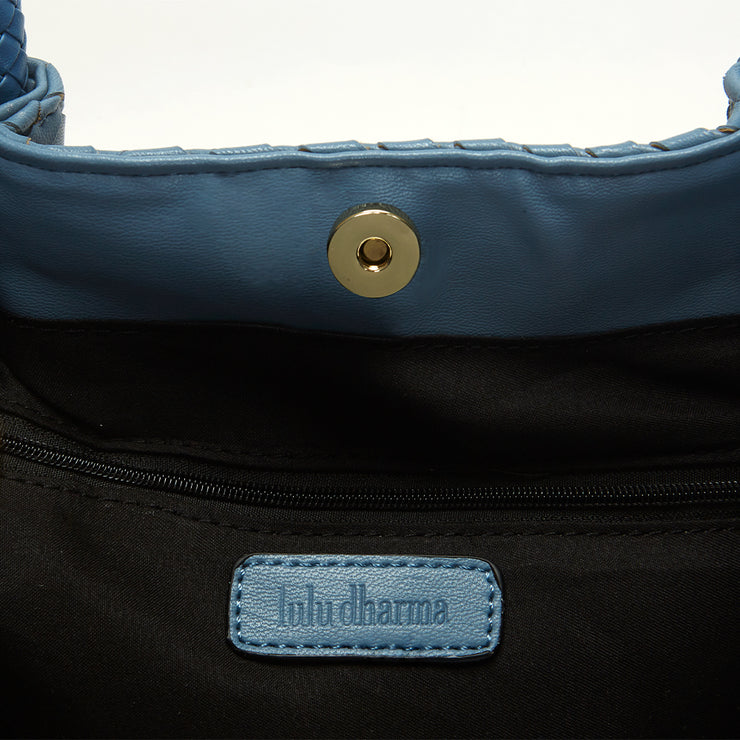 Cornflower Blue Napa Vegan Leather Tote