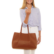 Cognac Napa Vegan Leather Tote